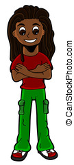Cartoon rastaman - Illustration of rastafarian wearing...