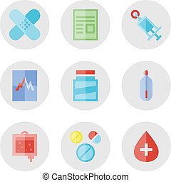Medical icons set - Collection of vector icons in modern...
