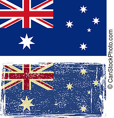 the Australian grunge flag. Vector illustration.