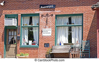 Small Town Antique Shop - A small town antique shop with...