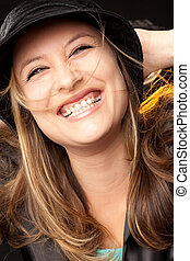 happy happiness woman - portrait of happy beautiful woman...