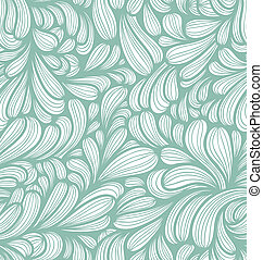 Abstract striped curls seamless pattern