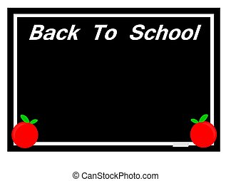 back to school board sign