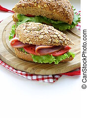 sandwich of wholemeal bread