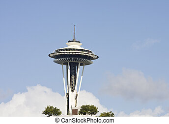 Space Needle - The space needle rising above Seattle