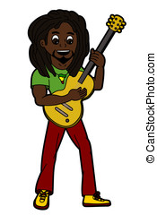Reggae singer and guitarist - Rasta reggae singer and...