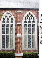 Two Stained Glass Windows - Two stained glass windows in...