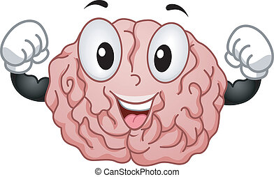 Strong Brain Mascot - Illustration of Strong Brain Mascot