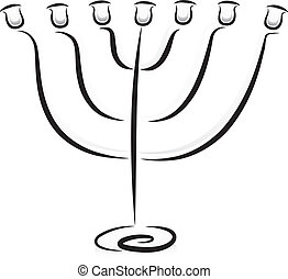 Candelabra - Illustration of a Candelabra in Black and White