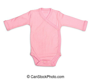 Baby romper - Newborn baby girls pink romper isolated on...