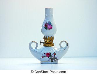 Antique White Lantern - This antique white lantern painted...