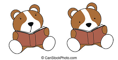 hamster baby cartoon reading set in vector format