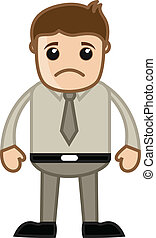 Sad Sales Man - Business Cartoon - Drawing Art of Cartoon...