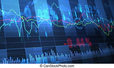 Stock Market trends_063 - Stock market trend of animation.