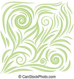 Vintage floral green leaves pattern