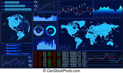 Stock market trends_060 - Animation of the stock market...