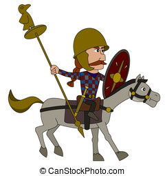 Gallic warrior cartoon - Punic wars - Gaul horseman...
