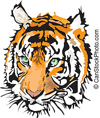 Vector - tiger made in eps