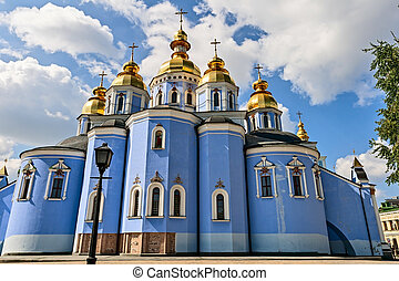 The St. Michael monastery, Kyiv, Ukraine. - The St. Michael...