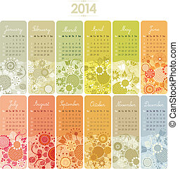2014 Calendar Set - 2014 Decorative calendar set with...