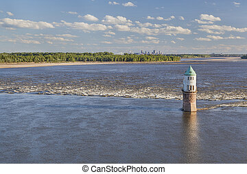 Mississippi River above St Louis - Mississippi RIver at...