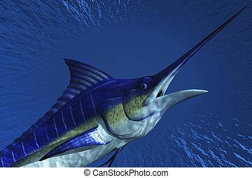 Marlin - Computer Illustration Of A Marlin
