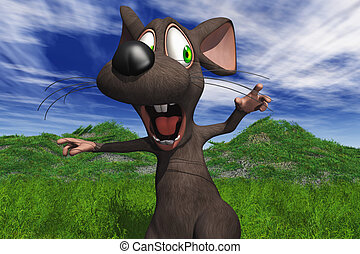 Cartoon Mouse - Cartoon Image Of A Mouse Being Chased