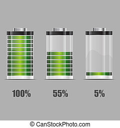 Battery illustration. Concept-battery life