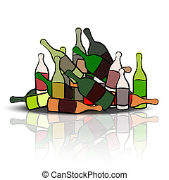 Pile of empty bottles