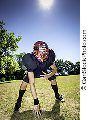 American Football Offensive Lineman - American football...