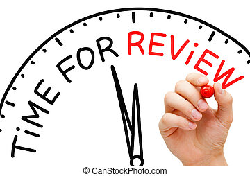 Time for Review - Hand writing Time for Review concept with...