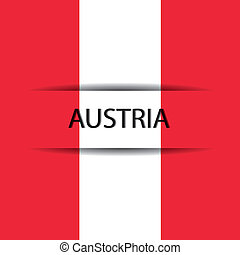 Austria text on special background allusive to the flag