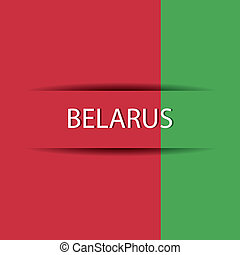 Belarus text on special background allusive to the flag