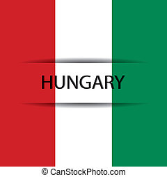 Hungary text on special background allusive to the flag