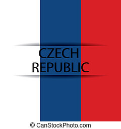 Czech Republic text on special background allusive to the...