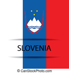 Slovenia text on special background allusive to the flag