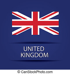 United Kingdom text on special background allusive to the...