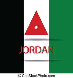 Jordan text on special background allusive to the flag