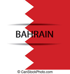Bahrain text on special background allusive to the flag