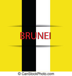 Brunei  text on special background allusive to the flag