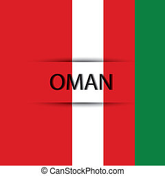 Oman text on special background allusive to the flag