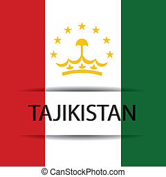 Tajikistan text on special background allusive to the flag