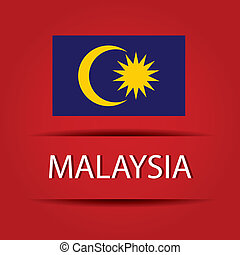 Malaysia text on special background allusive to the flag