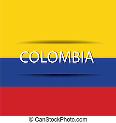 Colombia text on special background allusive to the flag