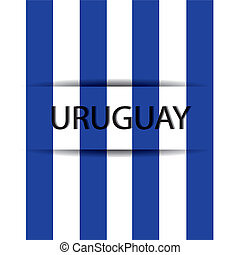 Uruguay text on special background allusive to the flag