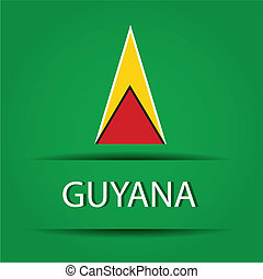 Guyana text on special background allusive to the flag