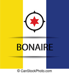 Bonaire  text on special background allusive to the flag