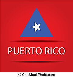 Puerto Rico text on special background allusive to the flag