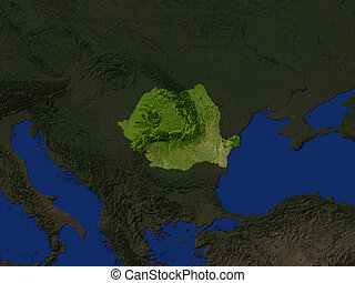 romania - Computer Render Of romania Highlighted