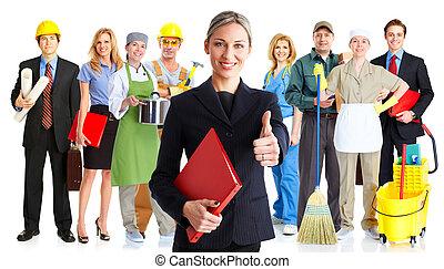 grupo, trabajadores
